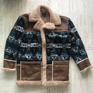 ASOS Oversized Indian Faux Sherpa Coat Jacket